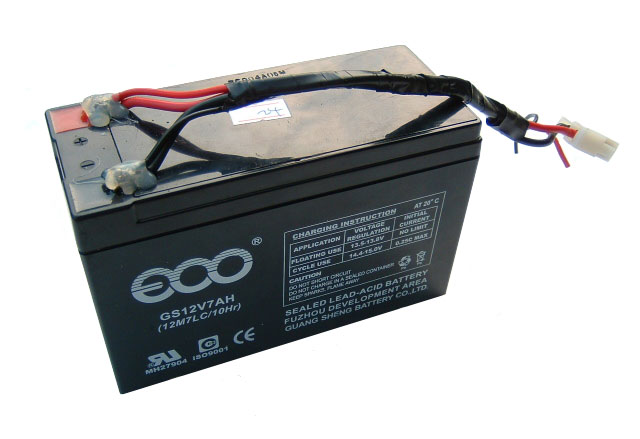 Generic 12 Volt 7 Amp Hour Battery (w/Wires)