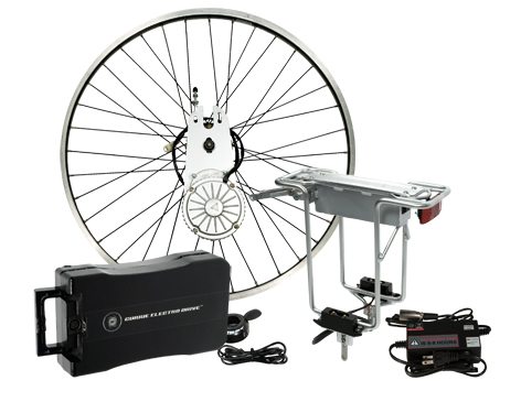 24 Volt 450 Watt Currie Electro-Drive Electric Bike Conversion Kit #1 with SLA Batteries and a 26