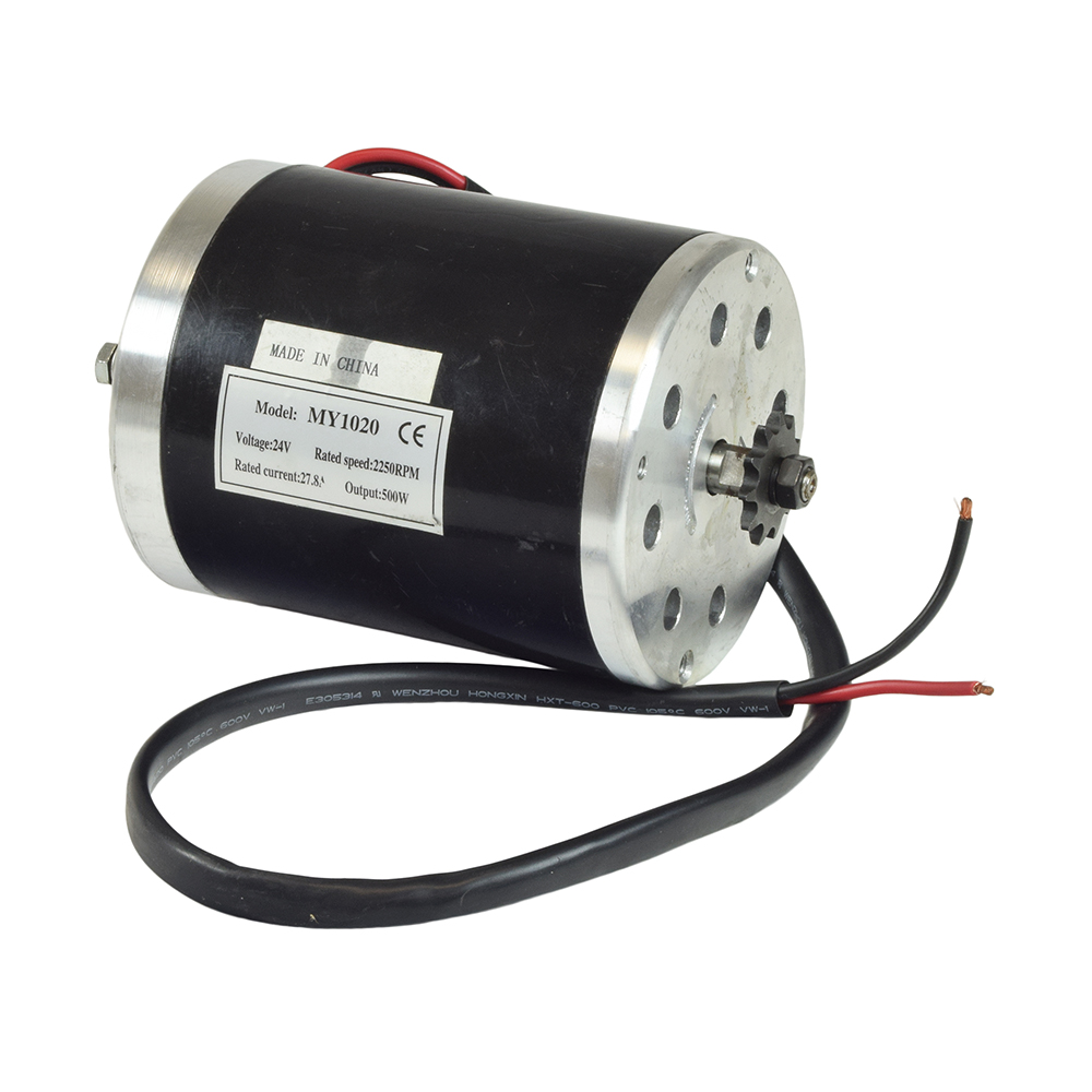 24 Volt 500 Watt My1020 Electric Motor With 11 Tooth 8mm