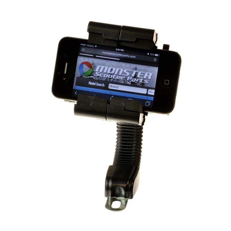 Flexible Gooseneck Smartphone Holder for Mobility Scooters, Power Chairs & Wheelchairs