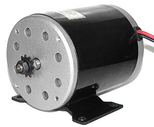 36 Volt 400 Watt Electric Motor with Mounting Bracket and 11 Tooth #25 Chain Sprocket (MY1020)