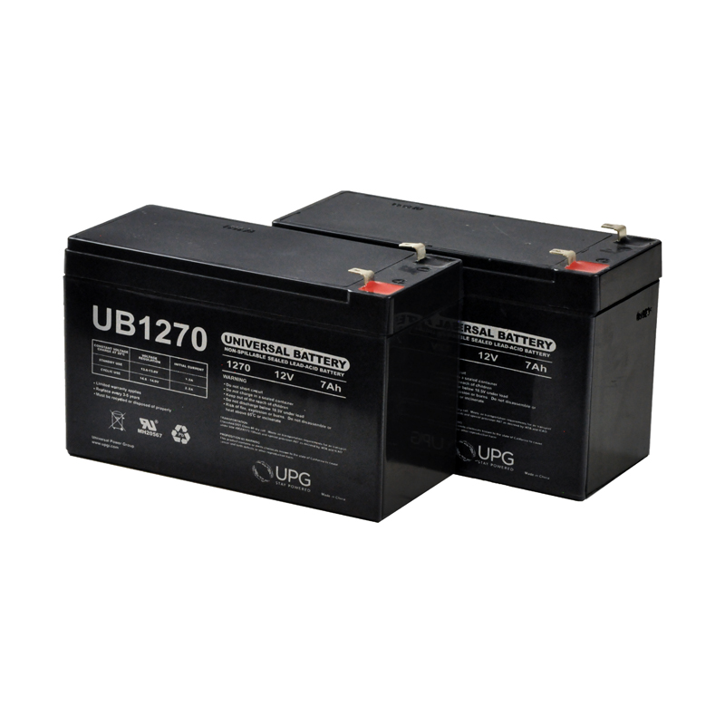 Razor Scooter Battery Pack - Set of Two 12 Volt 7 Ah Batteries