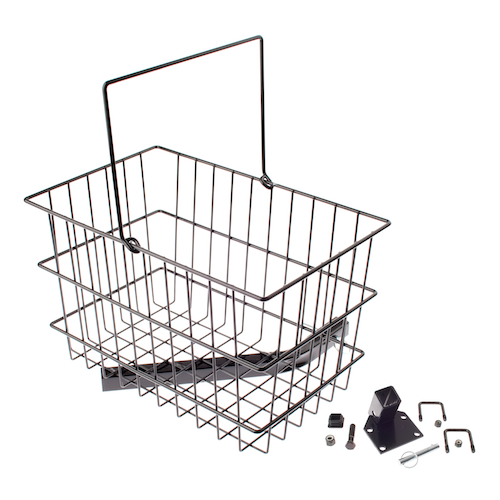 Rear Basket Assembly for Pinchless Hinge Jazzy Power Chairs