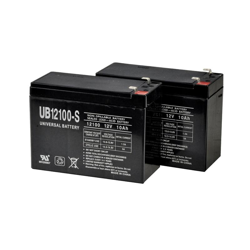 Schwinn S500 Battery Pack - Set of 2 12 Volt 10 Ah Scooter Batteries (Premium)