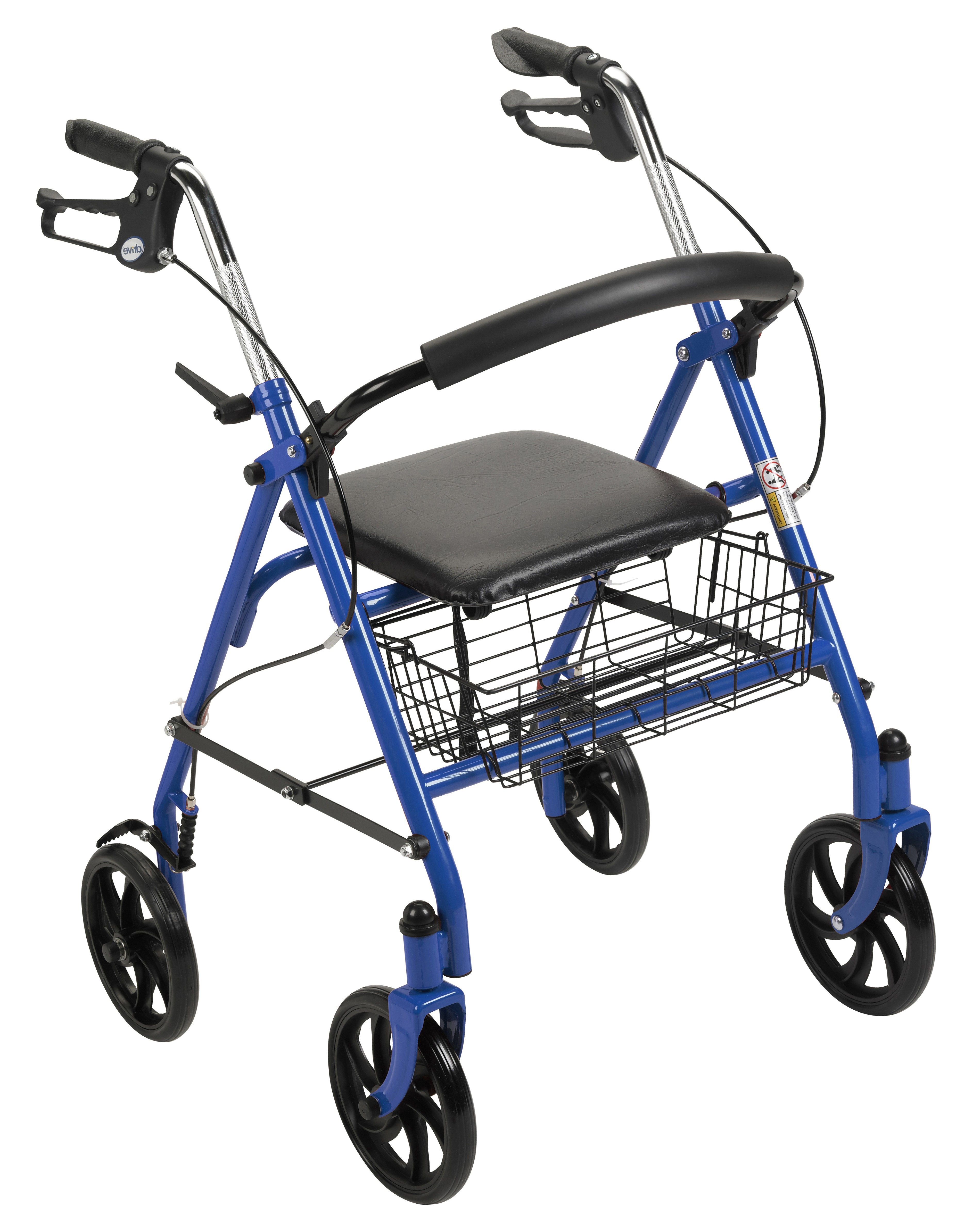 Drive Medical Durable 4-Wheel Rollator with 7-1/2