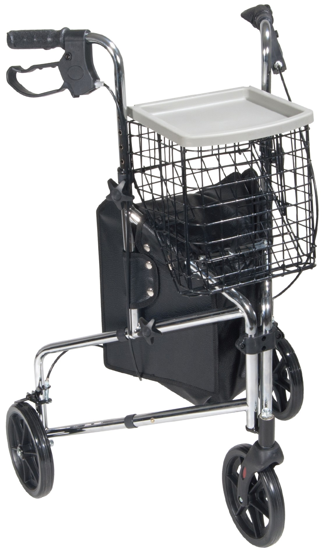 Drive Medical Deluxe 3-Wheel Steel Rollator with 7-1/2