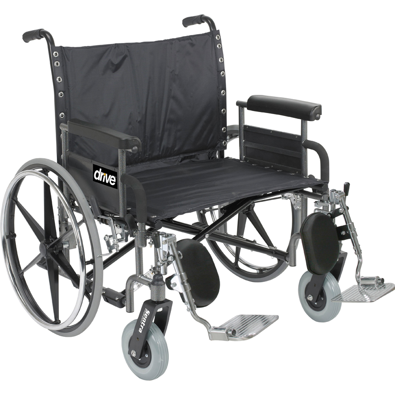 Drive Bariatric Deluxe Sentra Heavy Duty Extra Extra Wide Wheelchair Parts