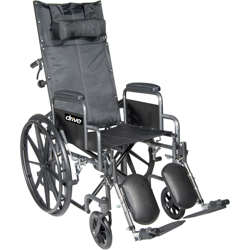 Drive Silver Sport Full Reclining Wheelchair Parts