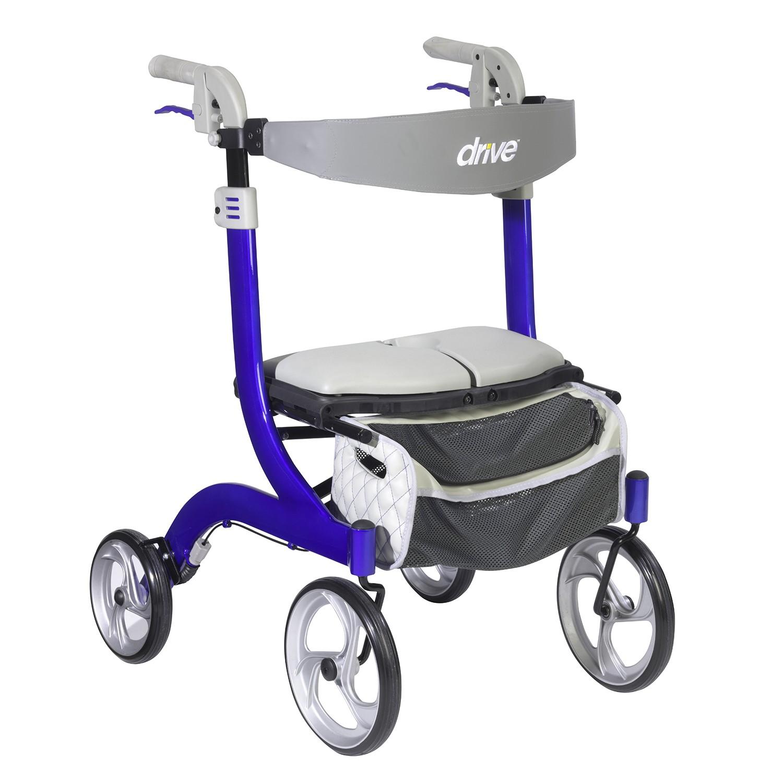 Drive Medical Nitro DLX Rollator (RTL10266CH-HS/RTL10266BL-HS)