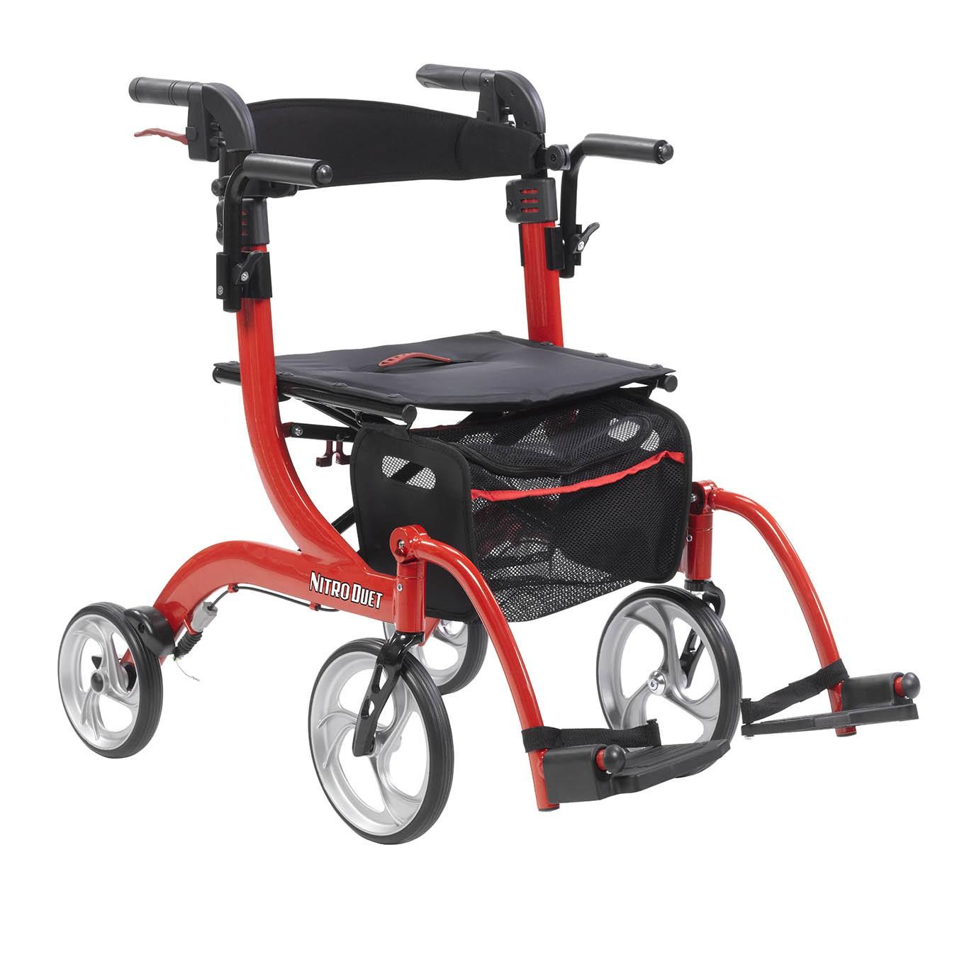 Drive Medical Nitro Duet Rollator/Transport Chair (RTL10266DT)