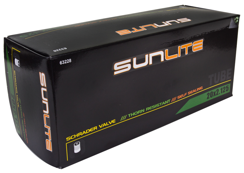 "Sunlite Bicycle Tube 14/"" x 2.125/"" Schrader Valve"