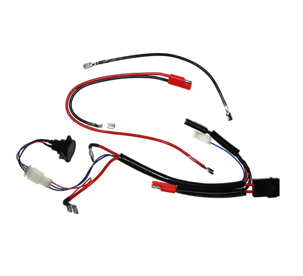 24 Volt Battery Wiring Harness with Charge Inhibitor for ...  Wire Harness Battery on