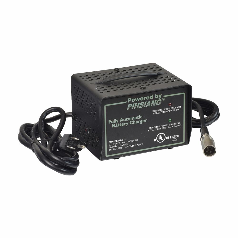 24 Volt 3 0 Amp XLR MB-24/3 Battery Charger for Shoprider