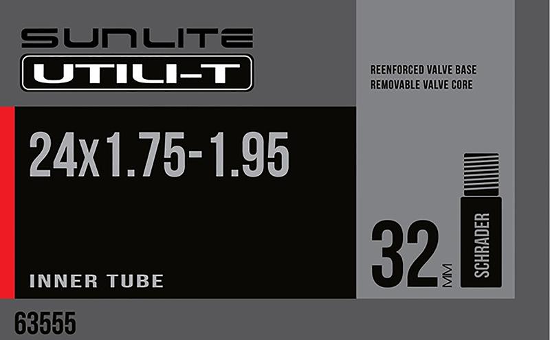 Sunlite Inner Tube Schrader Valve 24x1.50-1.95-32mm Valve