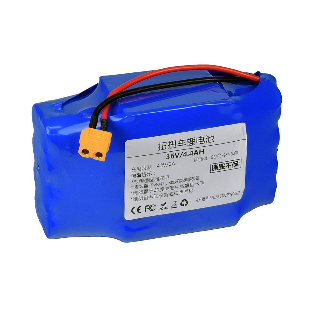 36 Volt 44 Ah Samsung Lithium Battery For Self Balancing Hoverboard Rzr Headlight Wiring Diagram Scooters Ul 2272 Certified