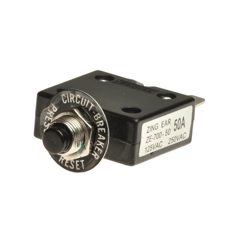 50 Amp Circuit Breaker with Tab Terminals - Circuit Breakers - All ...
