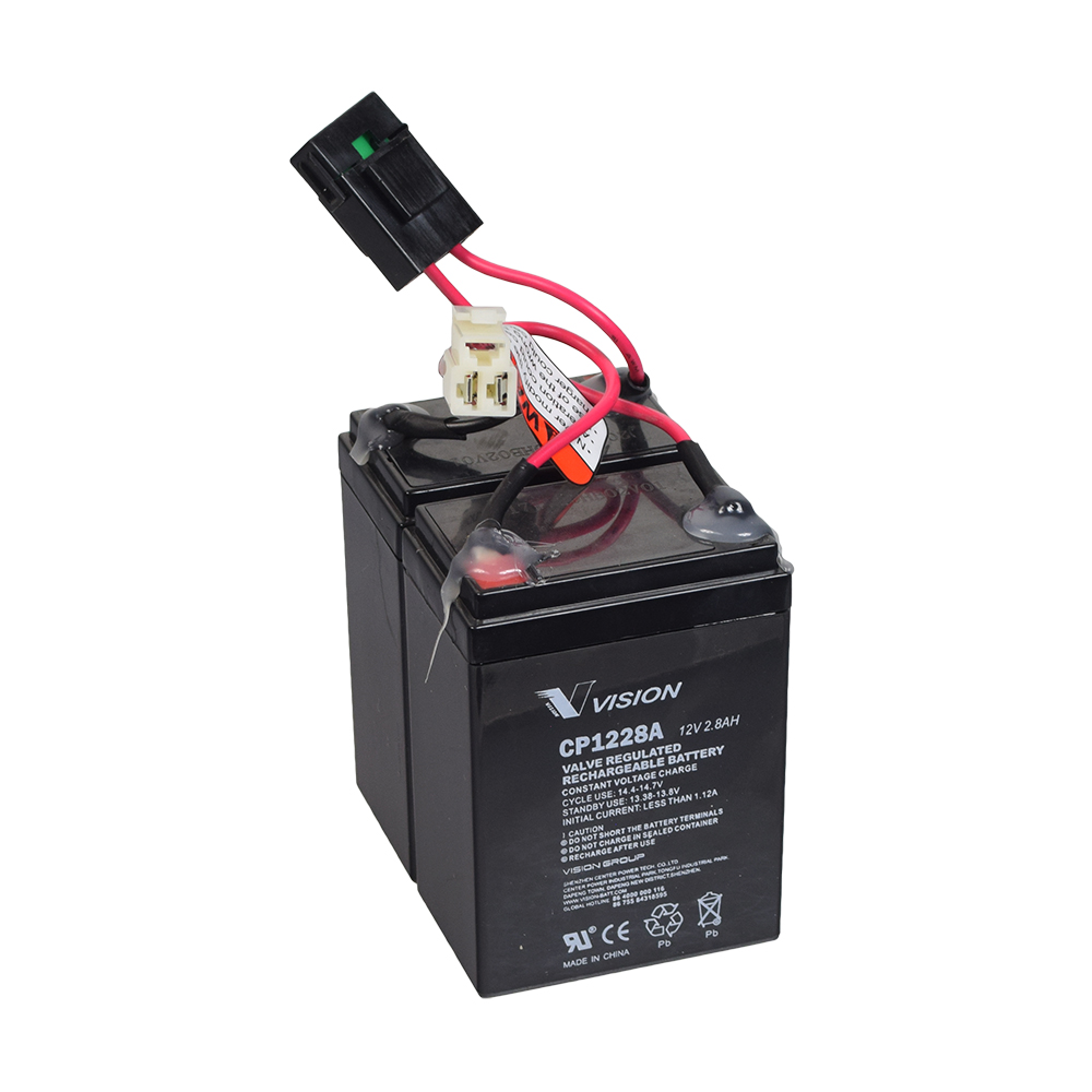 24 volt 2 8 ah battery pack with 30 amp fuse & wiring for the razor crazy  cart shift (versions 1+)
