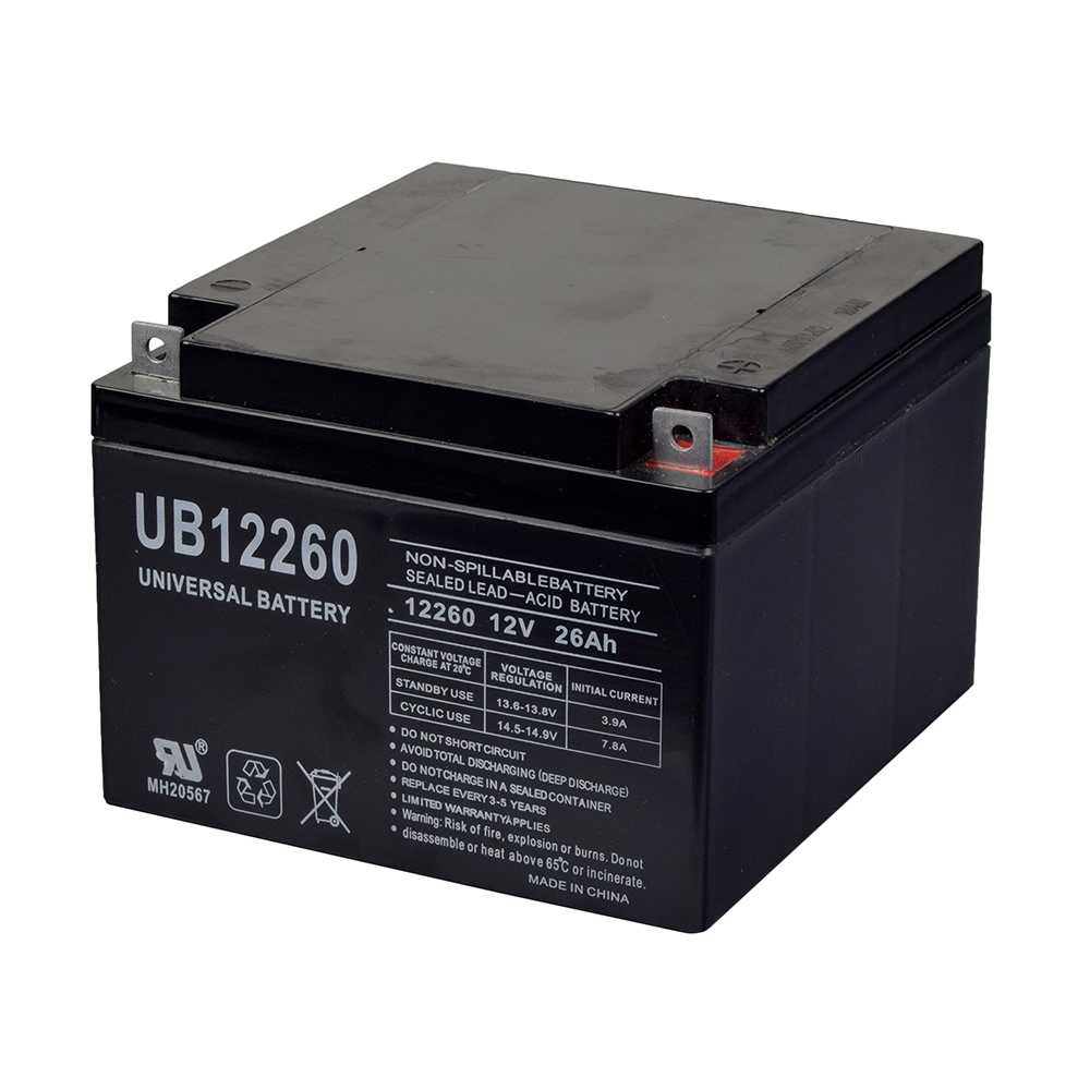 26 Ah 12 Volt Ub12260 Agm Mobility Scooter Battery With T3