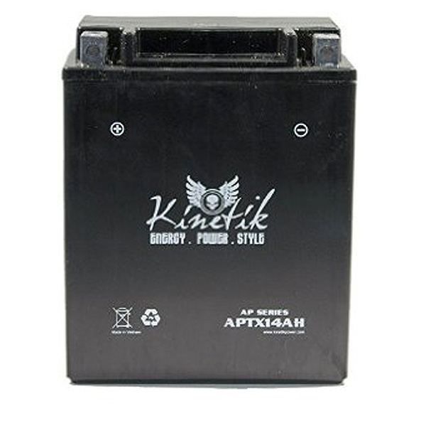 d54501d39b 12 Volt YTX14AH Replacement Sealed AGM Scooter & Motorcycle Battery. Kinetik