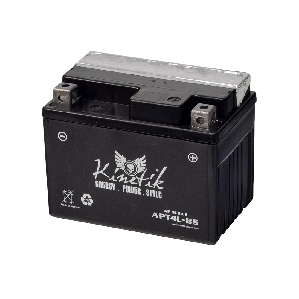 12 Volt YT4L-BS Replacement Dry Charged AGM Battery for the