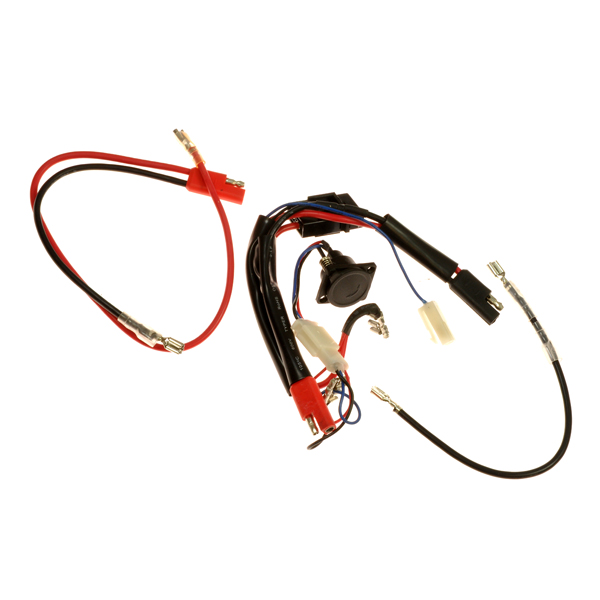 complete 24 volt 40 amp wire harness for currie 400 series scooters Currie Three Battery Wiring Diagram