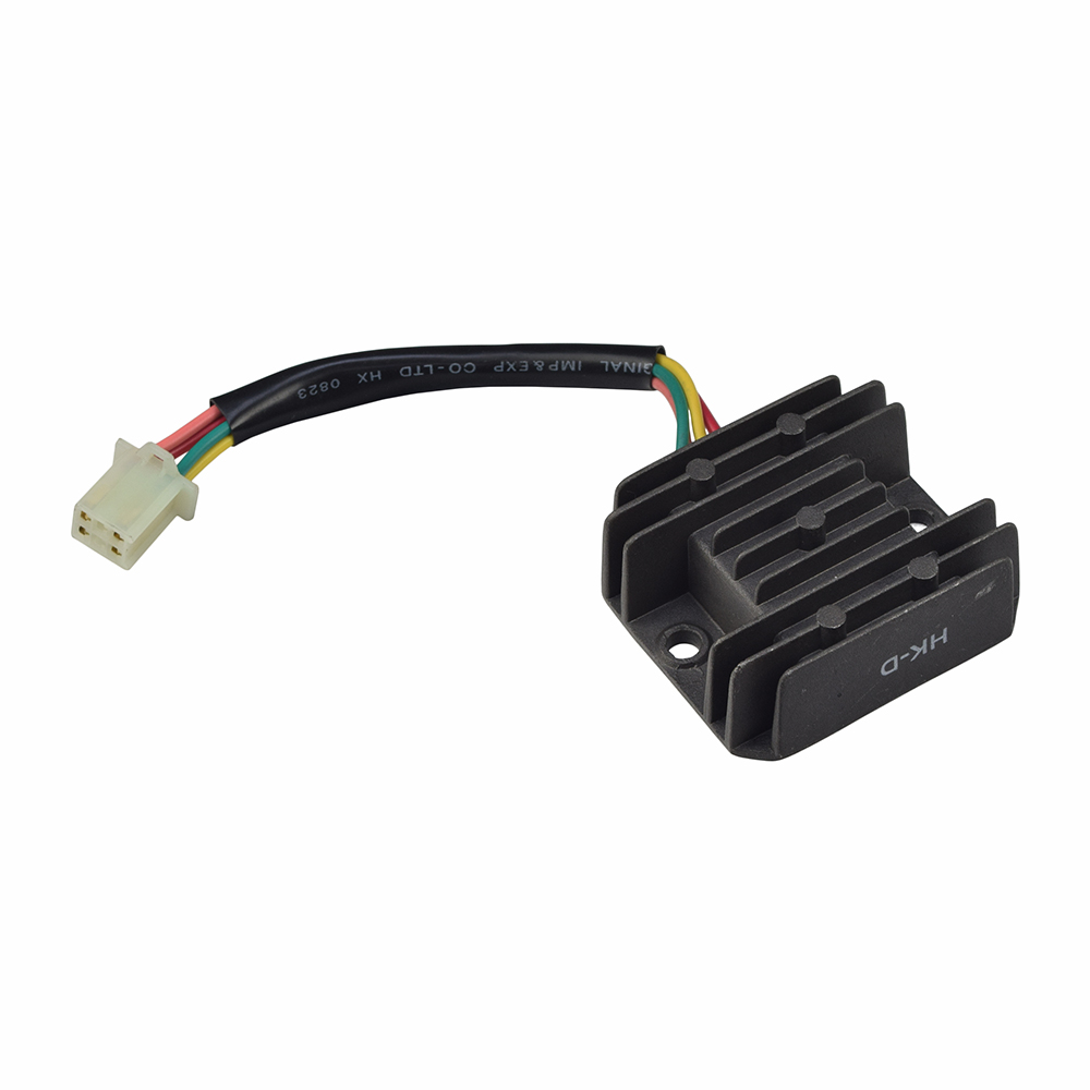 4-pin/4-wire rectifier (voltage regulator) for 50cc - 250cc atv, dirt bike,  & scooter engines