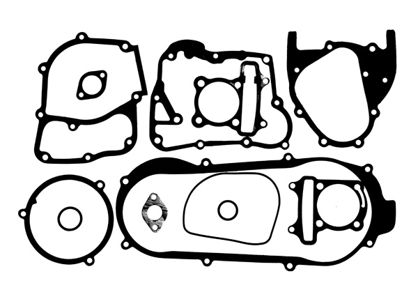 Gasket Set For Gy6b Short Case Engines With 170cc And 180cc Big Bore