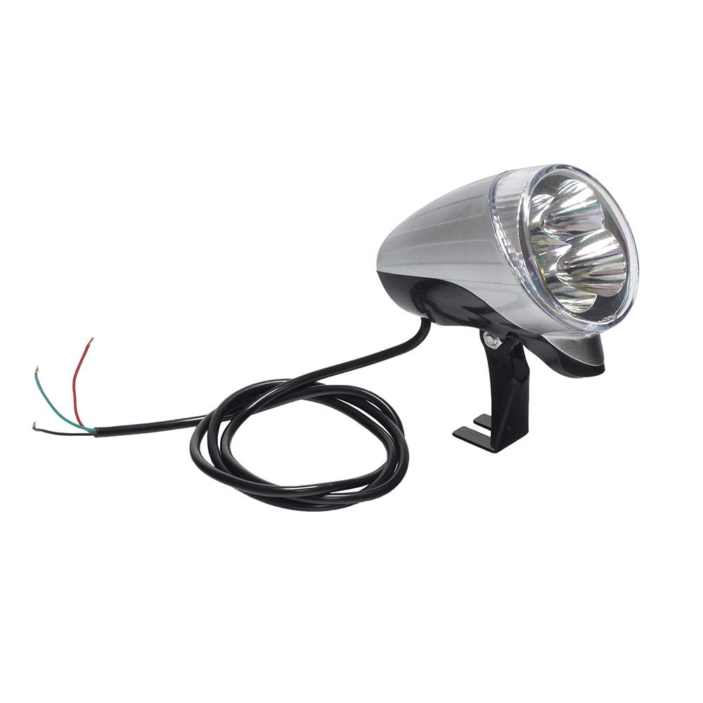 12 Volt Chrome Led Headlight Assembly Lights Lenses