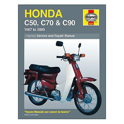 Haynes Repair Manual For Honda Cub C50 Cub C90 And