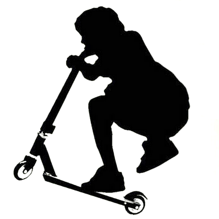 Kick Scooter Stunt Wall Sticker Monster Scooter Parts
