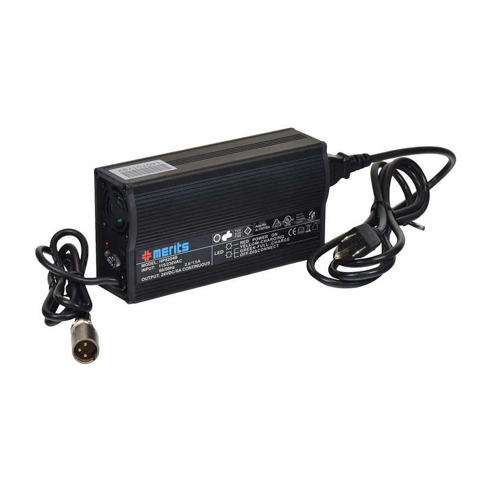 24 Volt 6.0 Amp XLR HP8204B Battery Charger : Monster Scooter Parts