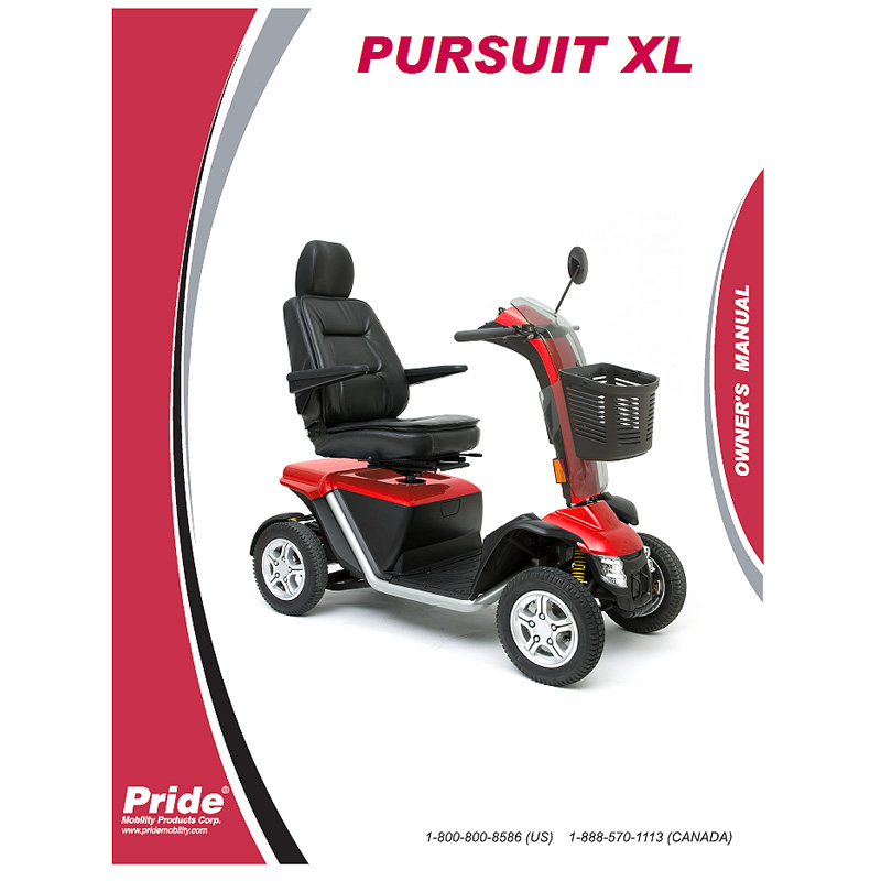 owner s manual for the pride pursuit xl pride pursuit xl sc714 rh monsterscooterparts com Mobility Scooter Parts Repair Manuals Pride Go-Go Scooter Operating Manual