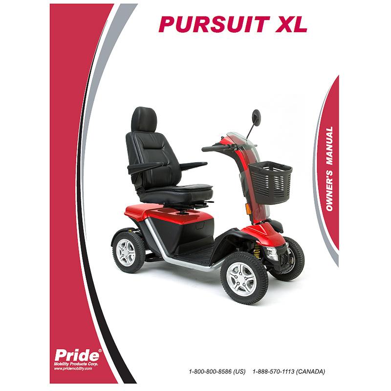 Owner's Manual for the Pride Pursuit XL - Pride Pursuit XL