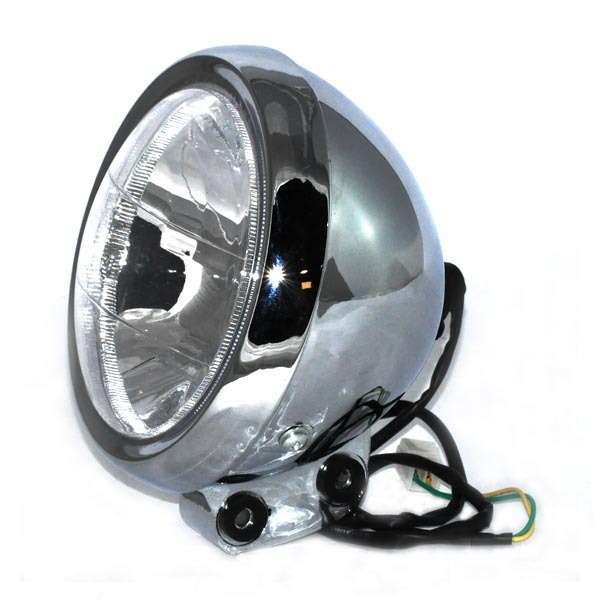 plastic headlight assembly with 2 wires for the baja mini bike mb165plastic headlight assembly with 2 wires for the baja mini bike mb165 (baja heat, mini baja, baja warrior)
