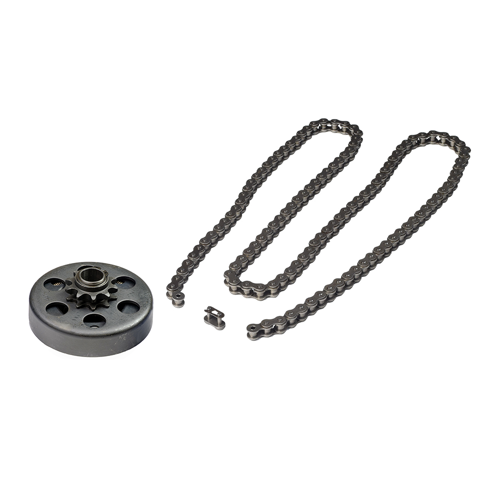 Clutch Assembly, Chain Sprocket, & #420 Open Loop Chain Set